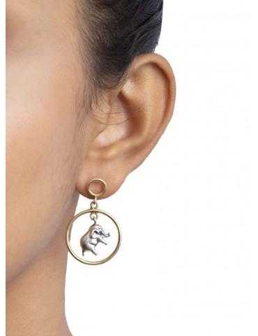 Sterling Silver Haathi Earrings