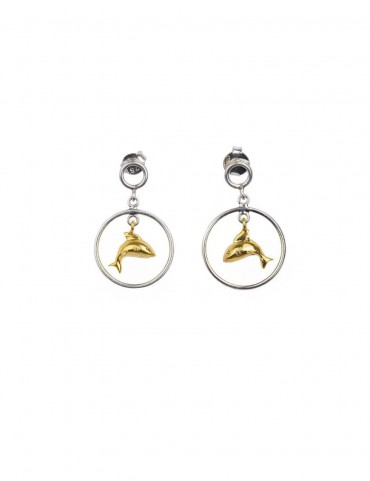 Sterling Silver Dolphine Earrings