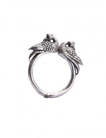 Sterling Silver Peacock Bangle