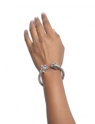 Sterling  Silver Haathi Head Bangle