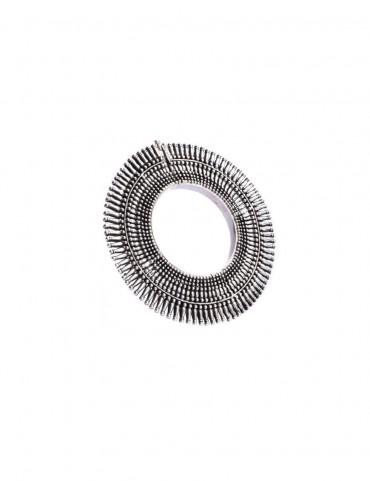 Sterling Silver Tribal Bangle Bracelet