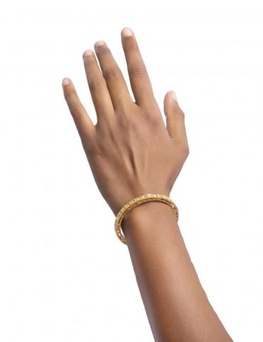 Sterling Silver Symmetrical Bangle Bracelet