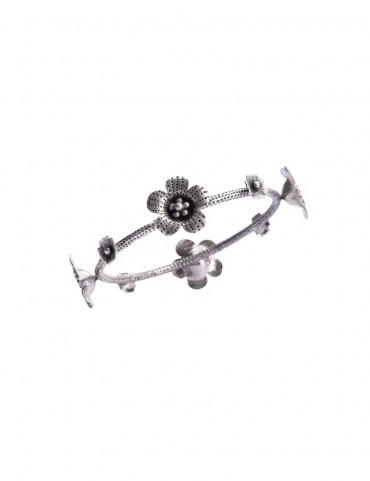 Sterling Silver Blossom Bangle
