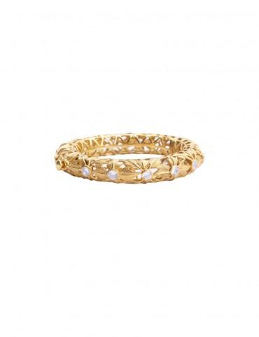 Sterling Silver Venation Bangle Bracelet