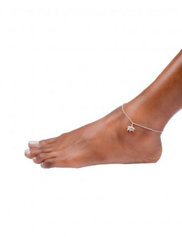 Sterling Silver Elephant Anklet