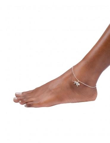 Sterling Silver Lion Anklet
