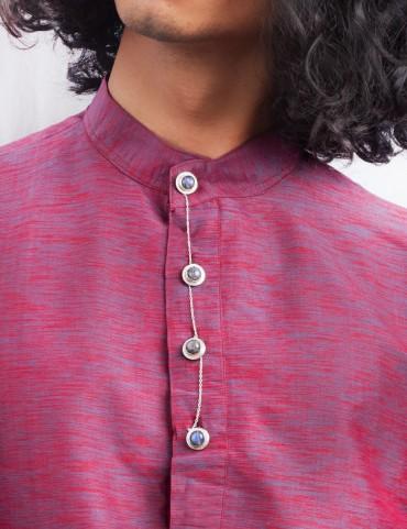 Sterling Silver Labradorite Kurta Buttons
