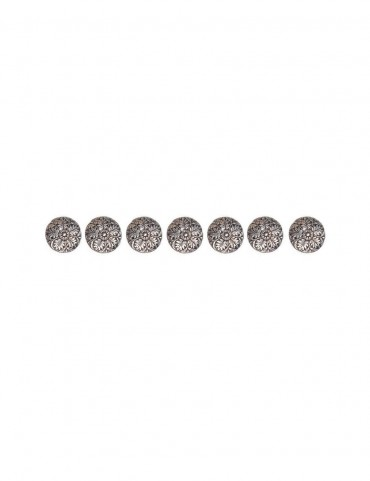 Sterling Silver Floral Sherwani Buttons