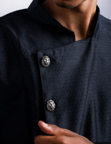 Sterling Silver King of the Jungle Sherwani Buttons