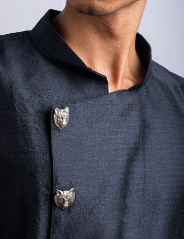 Sterling Silver Pack of Wolf Sherwani Buttons