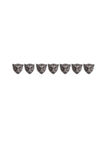 Sterling Silver Leopard Sherwani Buttons